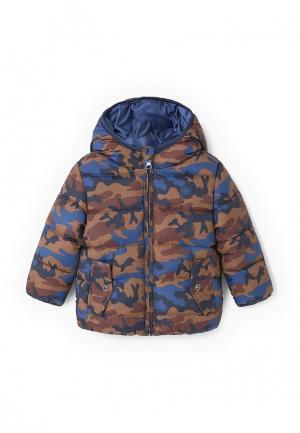 Куртка утепленная Mango Kids. Цвет: коричневый