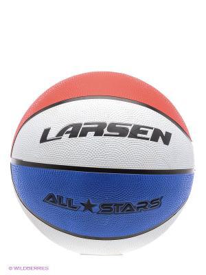 Мяч баскетбольный All Stars Larsen. Цвет: синий, красный, белый, черный