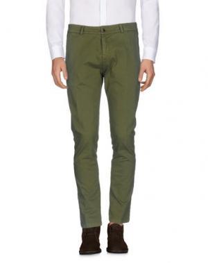 Повседневные брюки ONE SEVEN TWO. Цвет: зеленый-милитари