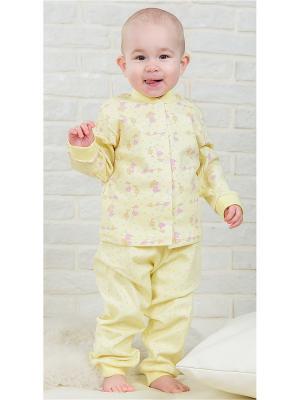 Пижама Веселый малыш. Цвет: светло-желтый,розовый,желтый