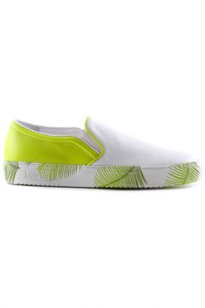 Туфли на резинке Loriblu. Цвет: белый, мульти