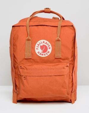 Fjallraven Классический рюкзак кирпичного цвета Kanken. Цвет: красный