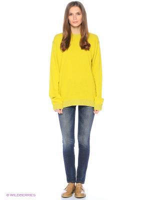 Свитер United Colors of Benetton. Цвет: светло-желтый