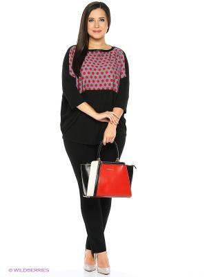 Блузка SVESTA. Цвет: черный, красный