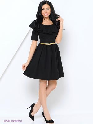 Платье LILA ROSE. Цвет: черный