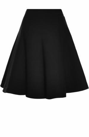 Шерстяная пышная юбка-миди Alaia. Цвет: черный