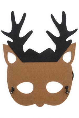 Карнавальная маска PlayToday. Цвет: коричневый, темно-коричневый,