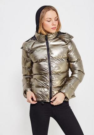 Куртка утепленная QED London. Цвет: золотой