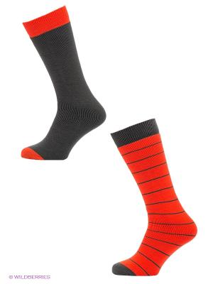 Носки, 2 пары Trespass. Цвет: темно-серый, оранжевый