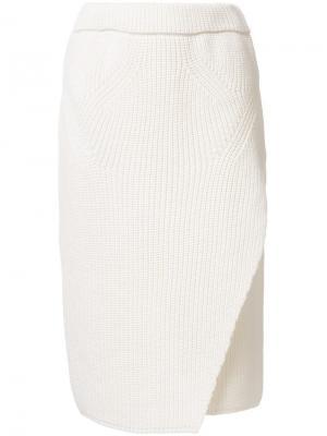 Юбка-карандаш 08Sircus. Цвет: белый