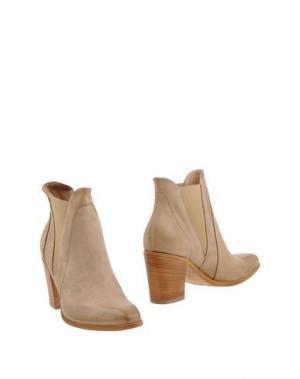 Полусапоги и высокие ботинки DONNA PIÙ. Цвет: голубиный серый