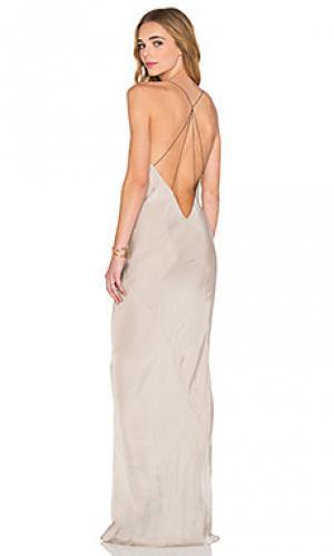 Платье naiad TITANIA INGLIS. Цвет: серый