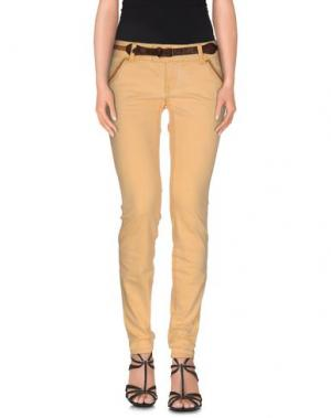 Джинсовые брюки MET & FRIENDS. Цвет: светло-желтый