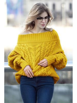 Джемпер DEMURYA. Цвет: желтый