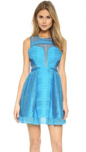 Платье Aquarius Three Floor. Цвет: морской синий