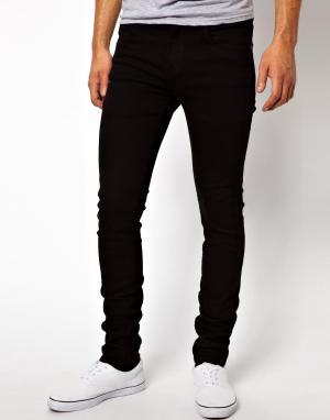Dr Denim Черные джинсы скинни Snap. Цвет: черный
