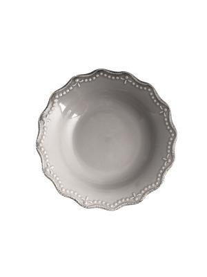 Набор тарелок суповых CROWNE H&H. Цвет: серый