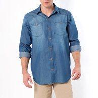 Рубашка джинсовая, рост 3 TAILLISSIME. Цвет: деним