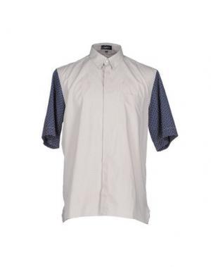 Pубашка GIULIANO FUJIWARA. Цвет: светло-серый