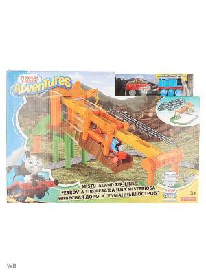 Игровой набор с навесной дорогой Переправа на туманном острове THOMAS & FRIENDS. Цвет: зеленый, оранжевый