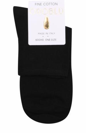 Хлопковые однотонные носки Oroblu. Цвет: черный
