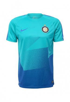 Футболка спортивная Nike. Цвет: разноцветный