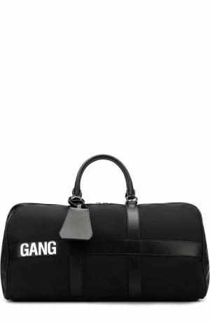 Текстильная дорожная сумка с плечевым ремнем Neil Barrett. Цвет: черный
