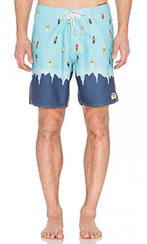 Плавательные шорты whipeout Ambsn. Цвет: синий