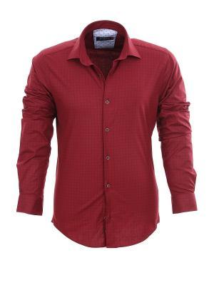 Рубашка BAWER. Цвет: темно-красный