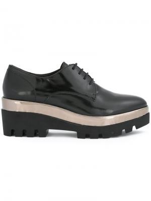Туфли на шнуровке и платформе Steffen Schraut. Цвет: чёрный