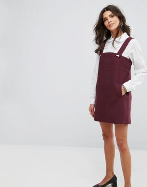 BA&SH Платье мини. Цвет: красный