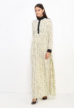 Платье Sahera Rahmani. Цвет: желтый