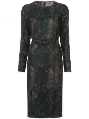Belted dress Akris. Цвет: чёрный