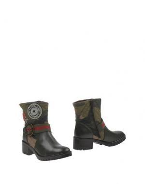 Полусапоги и высокие ботинки DESIGUAL. Цвет: зеленый-милитари
