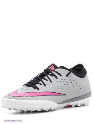 Шиповки MERCURIALX FINALE TF Nike. Цвет: серый, розовый