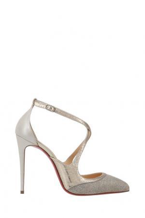Кожаные туфли Crissos 100 Christian Louboutin. Цвет: серебряный