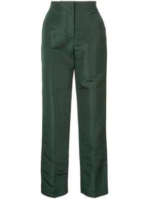 Узкие брюки Oscar de la Renta. Цвет: зелёный