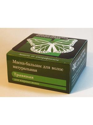 Маска-бальзам для волос натуральная.Травяная.200 гр Крымская Натуральная Коллекция. Цвет: белый