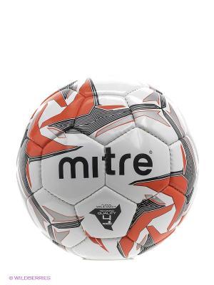 Мяч футбольный MITRE FUTSAL TEMPEST. Цвет: черный, серебристый, красный, белый