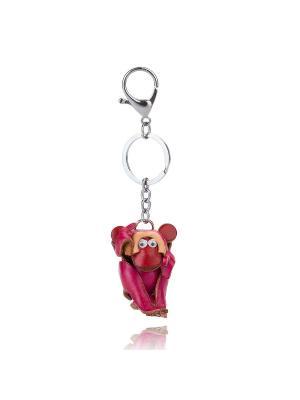 Брелок Обезьяна (розовый) Honey Jewelry. Цвет: розовый