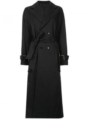Пальто-тренч G.V.G.V.. Цвет: чёрный