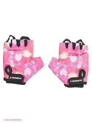 Велоперчатки Larsen. Цвет: розовый
