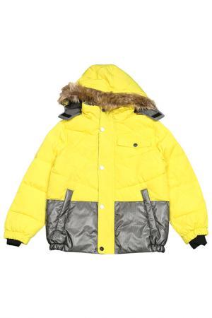Куртка с мехом Versace 19.69. Цвет: yellow