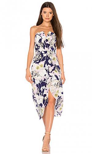 Платье миди glamour night Yumi Kim. Цвет: фиолетовый