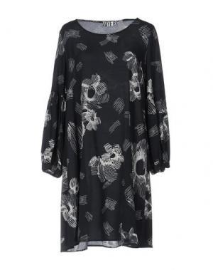Короткое платье ANIYE BY. Цвет: темно-синий