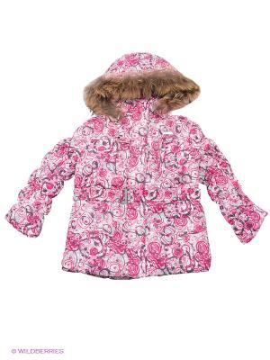 Куртка Devance. Цвет: малиновый, белый, розовый