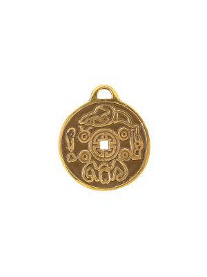 Амулет защитный Монета Счастья Aztek. Цвет: желтый