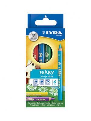 Lyra  superferby 6 цв. Высокопигментные цветные карандаши.. Цвет: желтый, зеленый, синий