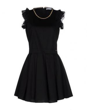 Короткое платье ANGELA MELE MILANO. Цвет: черный