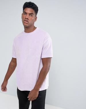 Antioch Велюровая оверсайз-футболка. Цвет: фиолетовый